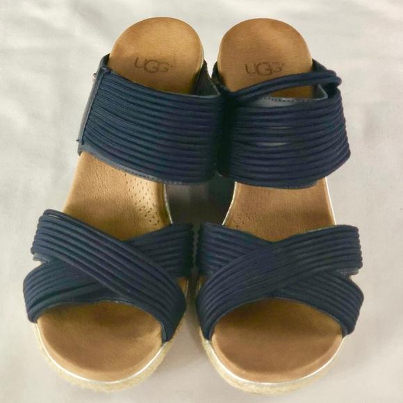 04aac0a1576 UGG Australia Hilarie Wedge Slide Sandal